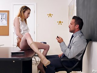 handsome professor teachesAllie Addison all about sex and pleasure