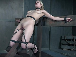 BDSM sex play leads the busty slave girl to insane orgasms