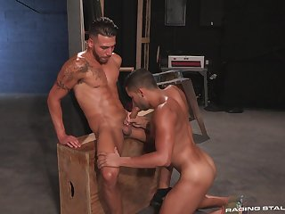 Naked gay porn shows the lovers acting pretty naughty