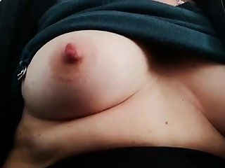 Fat bitch rubs her fat pussy and nipples
