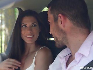 Nice outdoors fucking with mature neighbor Julia De Lucia