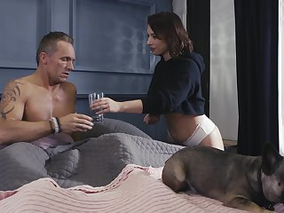 Wife Ivy Lebelle with large boobs having sex with her husband