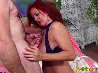 GoldenSlut - Older Ladies Show off Their Cock Sucking Skills Compilation 11