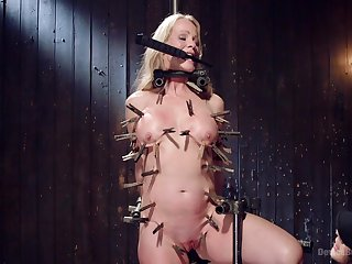 Brutal and painful torture session with blonde milf Simone Sonay