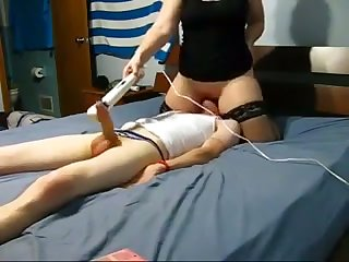 That bitch loves sodomizing me with her vibrator while sitting on my face