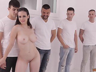 Fucking on the massage table with cock hungry brunette Nekane