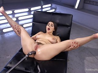 Horny Valentina Nappi spreads her legs for her long sex toys