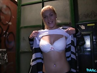 POV video of a rich guy fucking beautiful Alison Blond for money