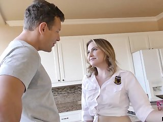 The hot needy I want to get fucked babe is enjoying her stepdad's cock