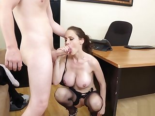 Office MILF Sofia has a job for her assistant