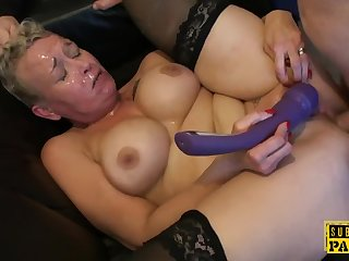 Mature Cocksucks Dom in Front of Sissy