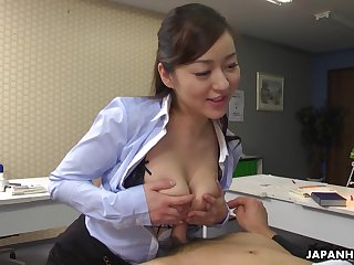 Japanese office lady, Maria Ono is naughty, unc