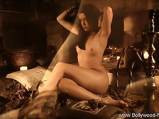 A Sexy Brunette Indian Seduction Moment During Free Time