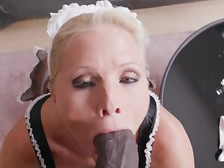 Mature maid Kathy Anderson drops her panties to be fucked by a BBC