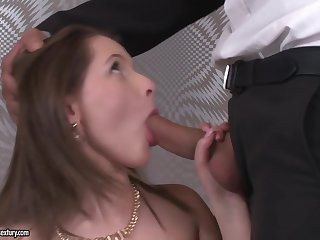 A very young slut between two men today