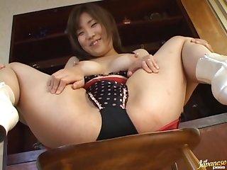 Good looking Miu Harunaga with nice natural tits plays with her BF