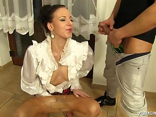 Sexy babe in pantyhose Pissing Fetish